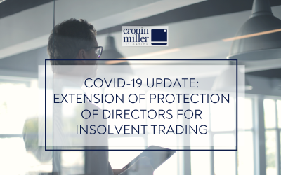 Covid-19 Update: Extension of protection of directors for insolvent trading